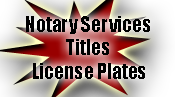 Joe Hallo offers notary services, titles and license Plates